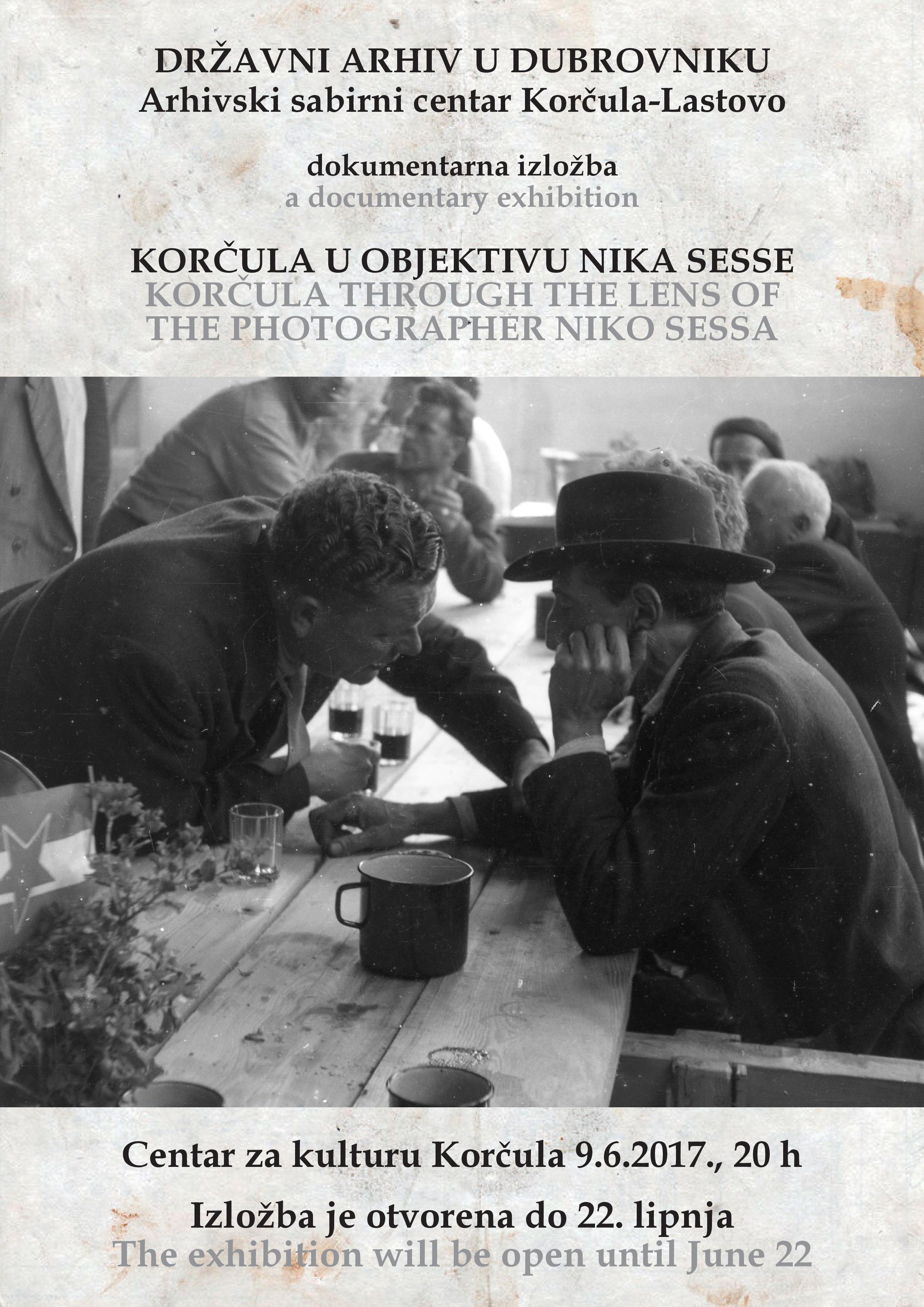 """Plakat za izložbu """"Korčula u objektivu Nika Sesse"""""""