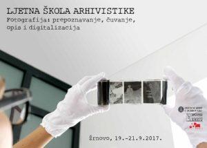 Plakat za Ljetnu školu arhivistike