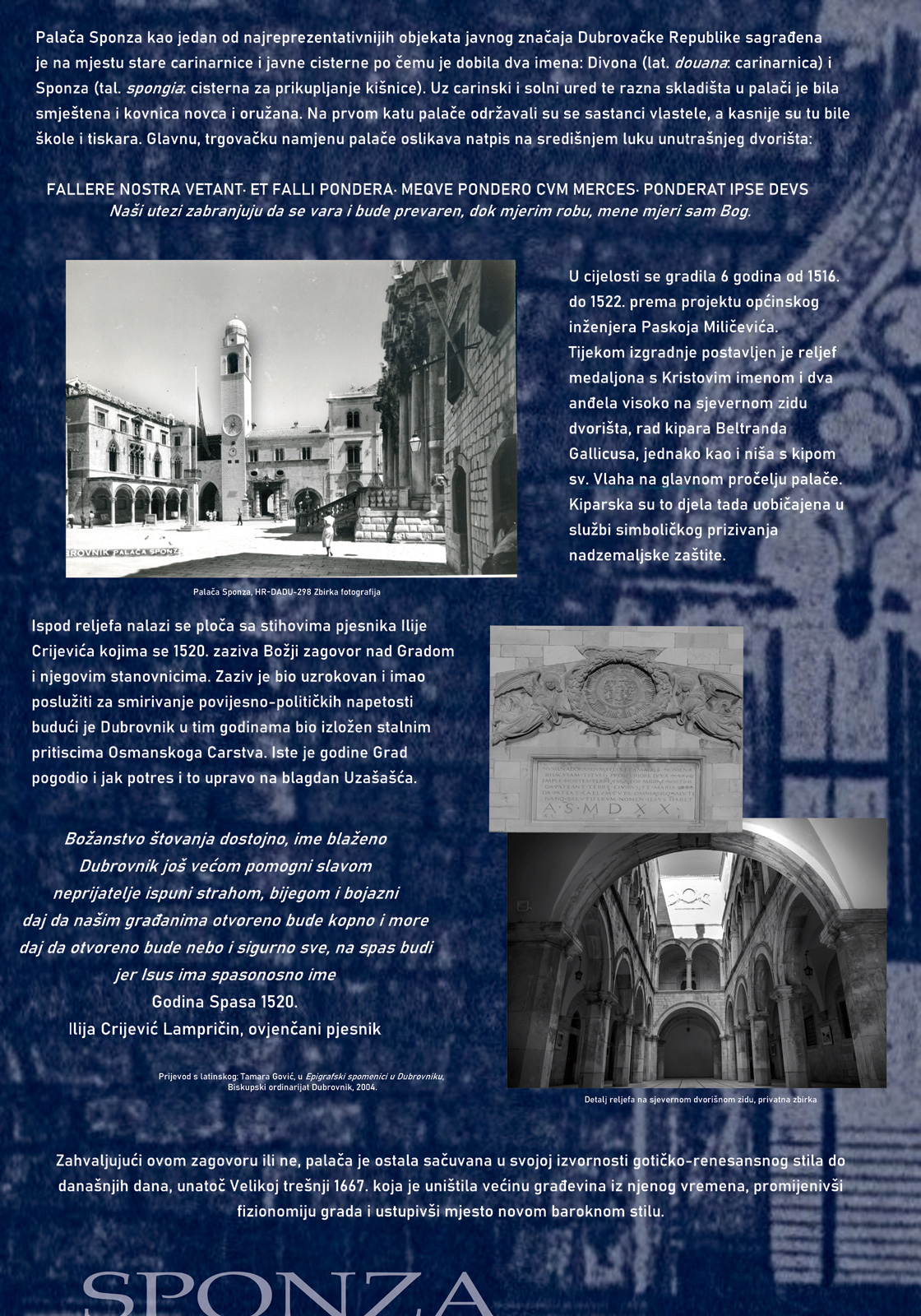 Najavni plakat izložbe - tekst i fotografije Sponze