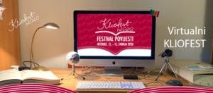 Naslovni plakat za virtulani Kliofest 2020 godine